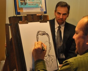 Caricature Artist Eric Melton ,Sponsored by The Sodoma Law Group P.C. Charlotte NC